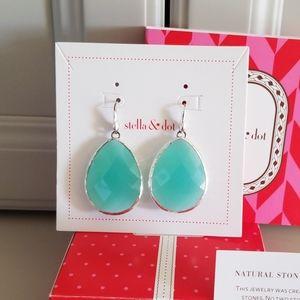 Stella & Dot Serenity Stone Drop Earrings